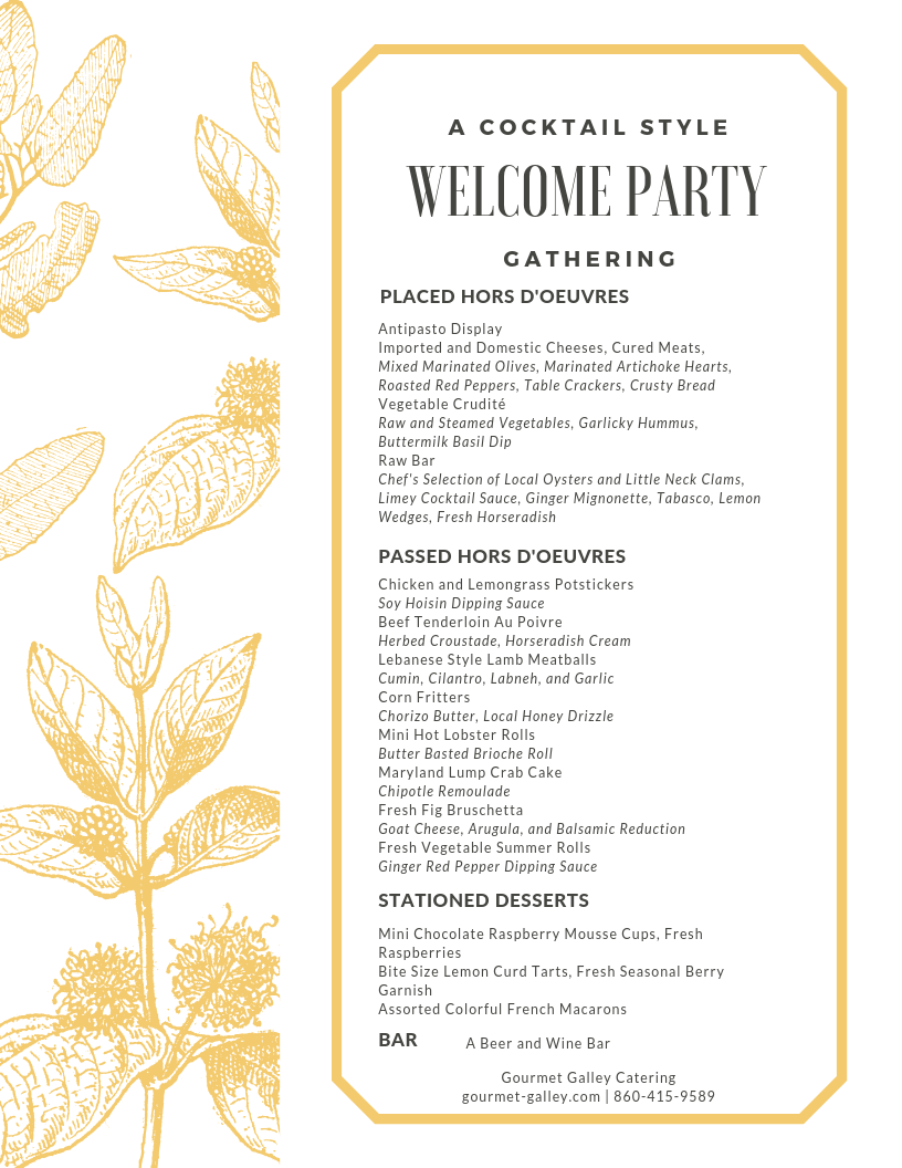 Planning Your Wedding Festivities Welcome Friends And Family From Near And Far To Town With A Casual B Wedding Catering Welcome To The Party Little Neck Clams