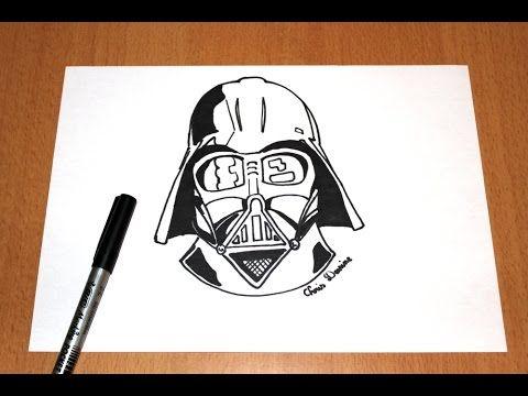 Comment dessiner dark vador star wars tutoriel how to draw darth vader tutorial youtube - Dessin dark vador ...