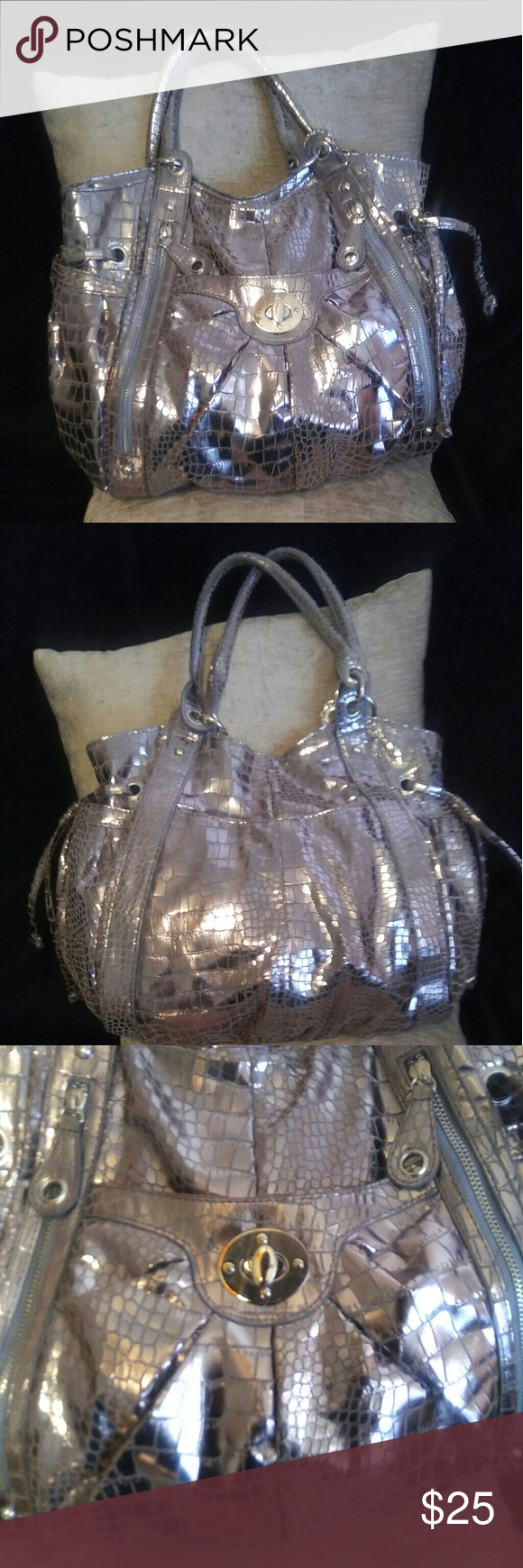 Metallic Braciano Handbag The Perfect Tote Ious With 3compartments Inside Plenty Of Hideaway Pockets Bags Totes