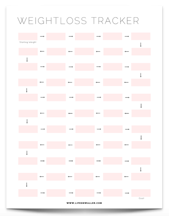 Free Printable Fitness Tracker - Cassie Scroggins
