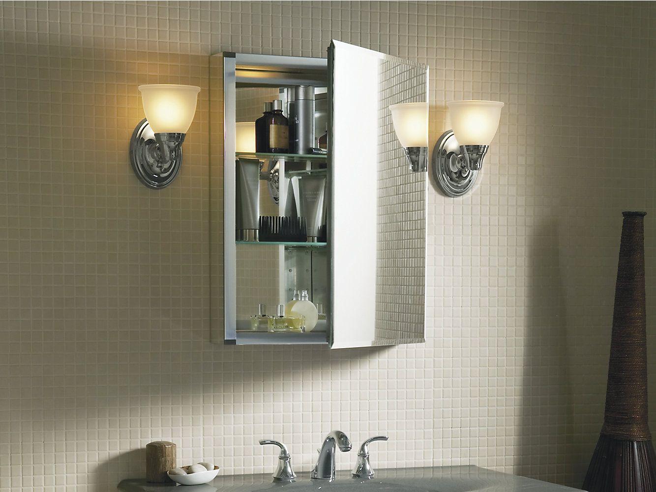 K Cb Clc2026fs 20 Inch Medicine Cabinet With Mirrored Door Kohler In 2021 Adjustable Shelving Single Doors Medicine Cabinet Mirror