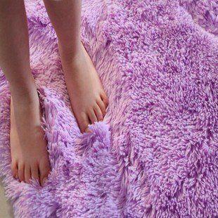 "DIAIDI Washable Super Soft Area Rug Lovely Sitting Room Tea Table Mat bedroom Carpet 31""*63"" customize (purple, 31""*63"")"
