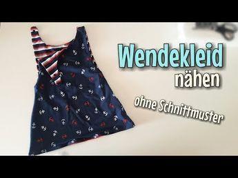 Wendekleid Nähanleitung - OHNE Schnittmuster - Für Anfänger - Nähtinchen - YouTube #babyponcho