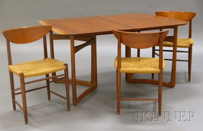 John Stuart Dining Table And Three Chairs Sale Number 2489 Lot