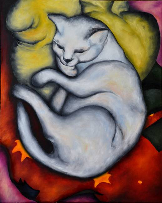 Franz Marc's 'Cat on a Yellow Pillow' by Maria Kucera