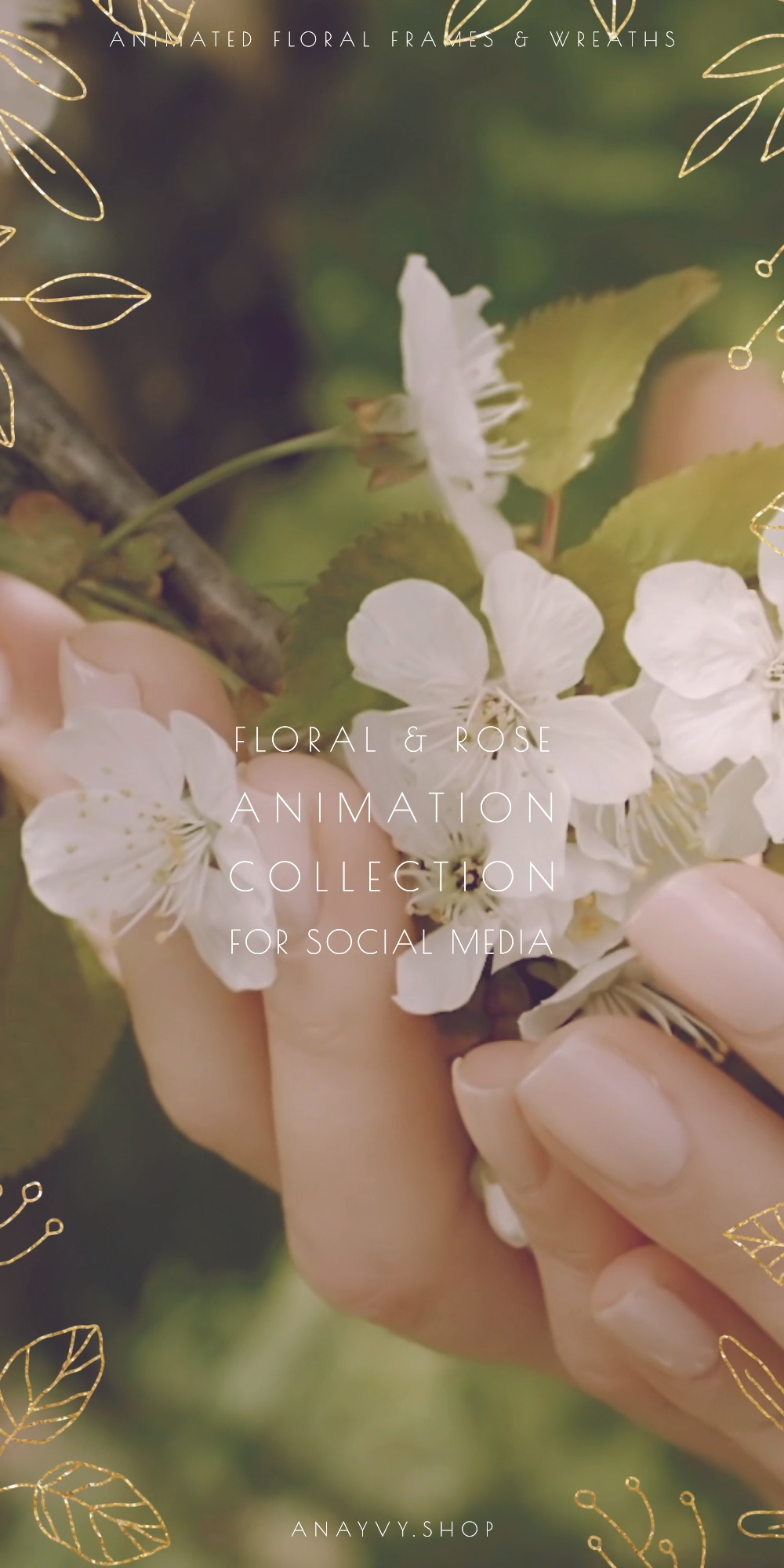 Photo of animated Romantic Foliage Collection for digital Wedding Invitation & Social Media |by ana & yvy