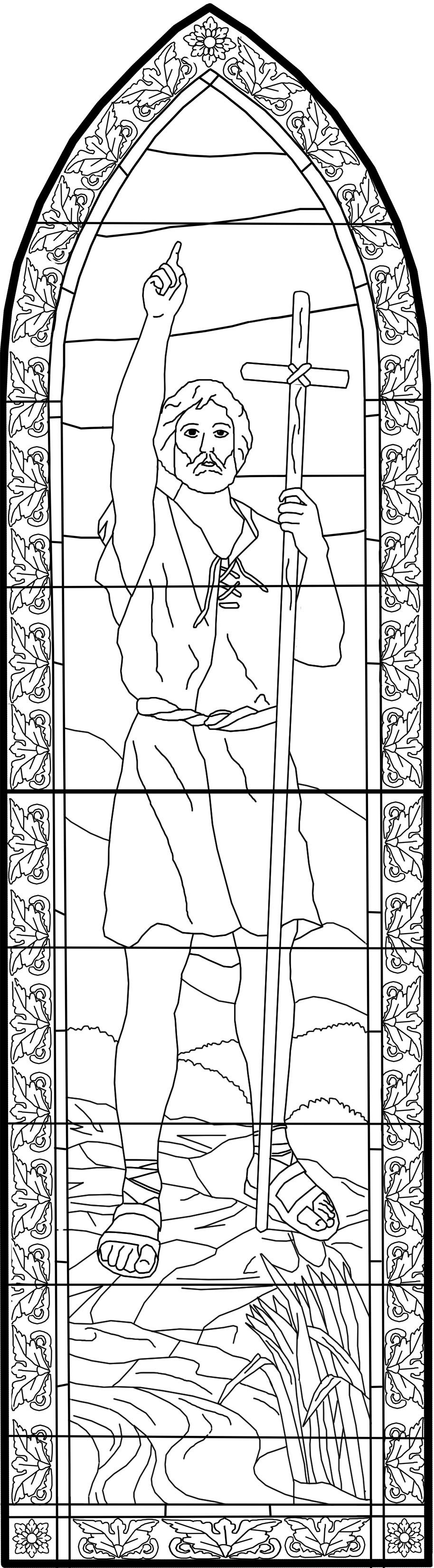 catholic church coloring pages - st john the baptist catholic church coloring pages