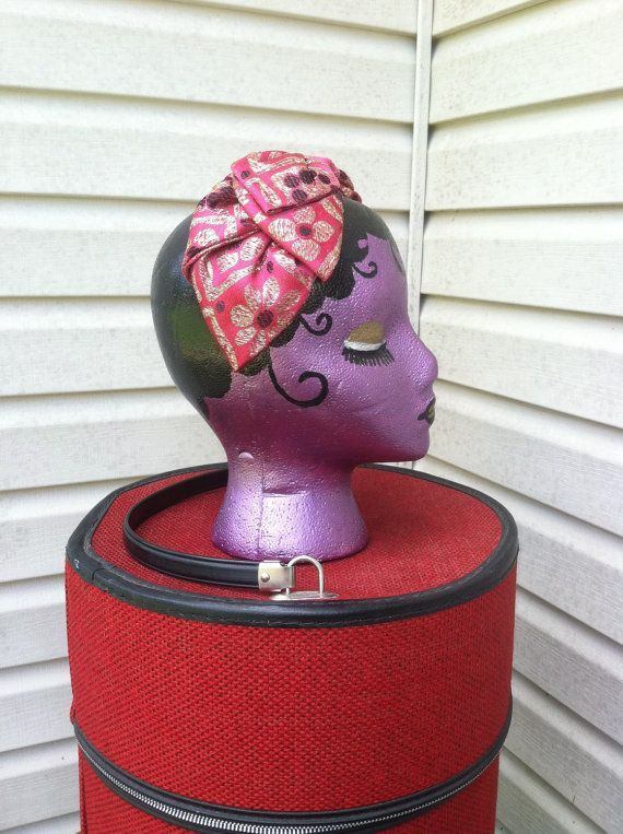 1950's vintage cocktail headband hat by FeathercatEmporium on Etsy