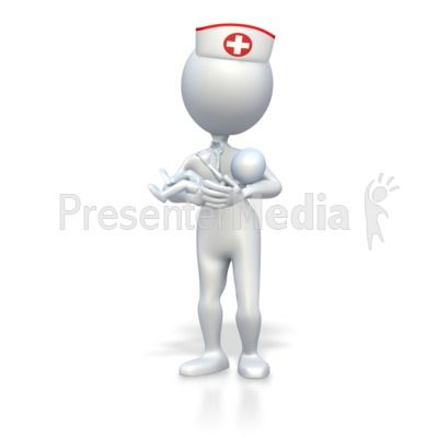 Nurse With Baby PowerPoint Clip Art Stick Figures PowerPoint - nursing powerpoint template