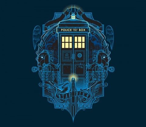 T4RD1S | I'm a big fan of Dr. Who and this design is inspired by this fantastic ship and part of my favorite villains in this series. @teefury