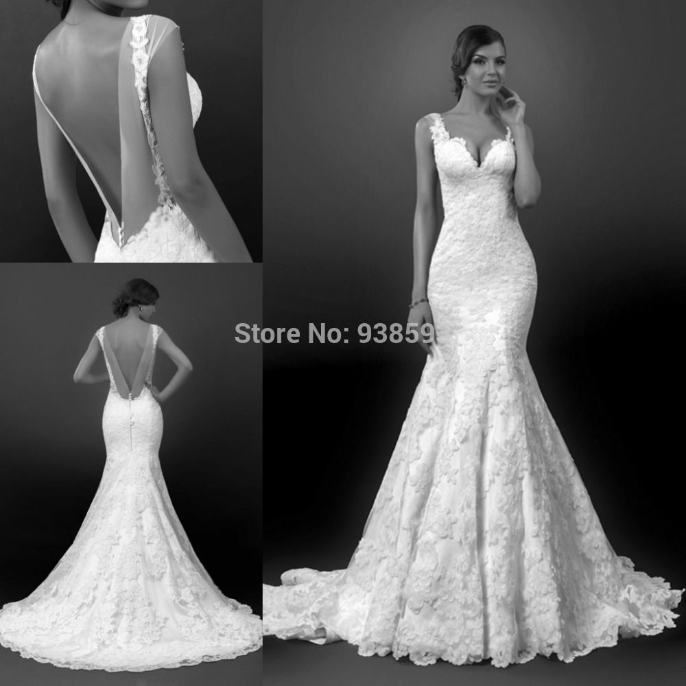 36 Low Back Wedding Dresses | Lace wedding dresses, Lace weddings ...