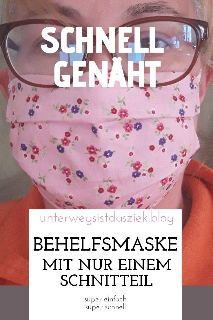 Photo of Wie man eine Gesichtsmaske aus nur einem Stück Stoff näht. Auch für Anfänger…