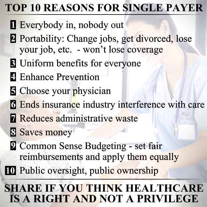 Top 10 Reasons For Single Payer Health Care | Changing ...