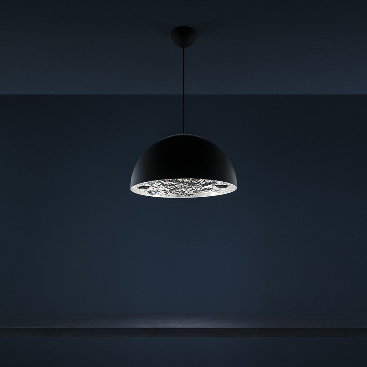 Catellani Smith Stchu Moon 02 Led Pendelleuchte O 40 Cm Schwarz Silber Led Stehlampe Lampen Landhausstil Pendelleuchte