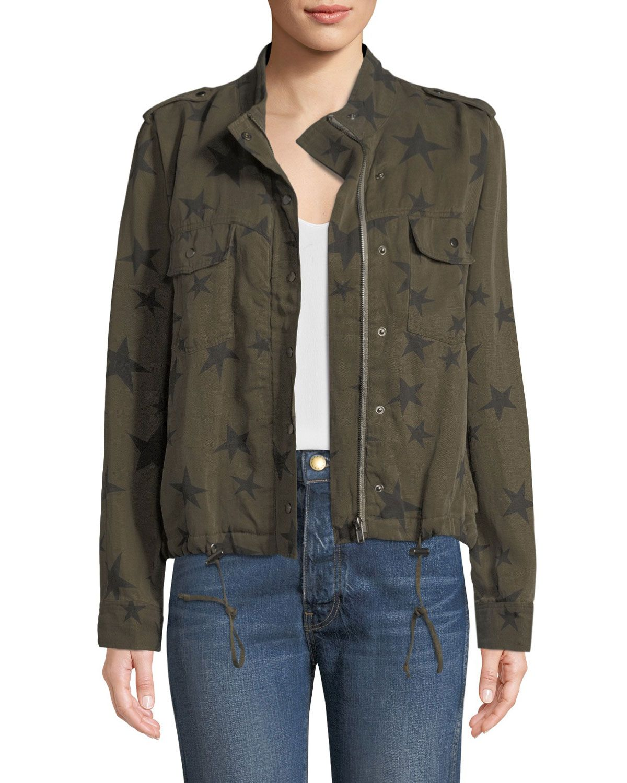 Rails Collins Star Print Utility Jacket Mod And Retro Clothing Jackets Utility Jacket Outerwear Jackets [ 1500 x 1200 Pixel ]