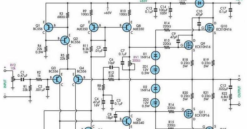 200W Subwoofer Amplifier Circuit, 200W Mosfet Amplifier