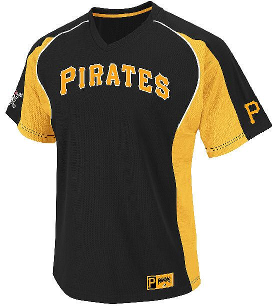 5f001780 Pittsburgh Pirates Clean Up Hitter V Neck Jersey by Majestic $44.95 ...