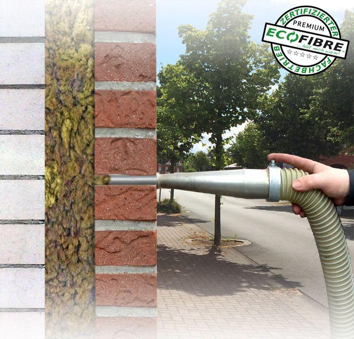 Kerndammung Mauerwerk Eingeblasene Fassadendammung Fassade Mauerwerk Fassadensanierung