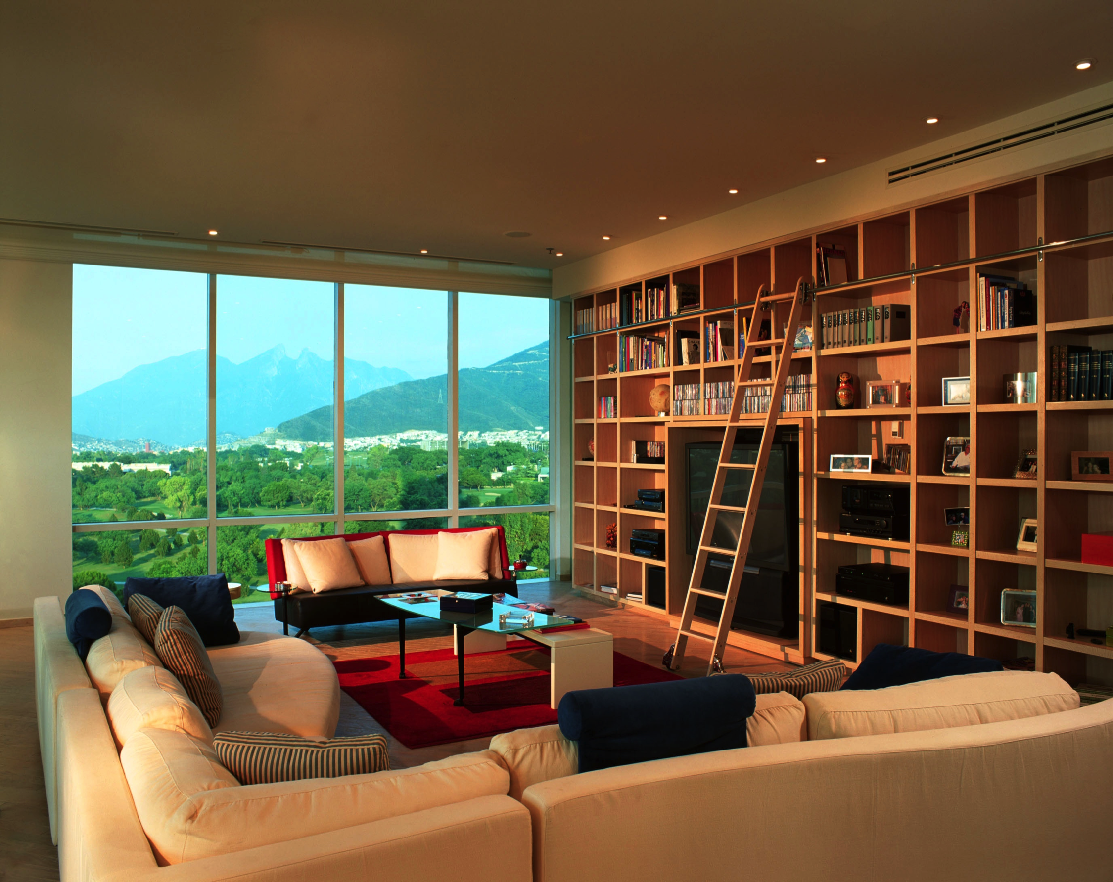 Contemporary Spacious Country Club Apartmentjerry Jacobs Brilliant Living Room Library Design Decorating Inspiration