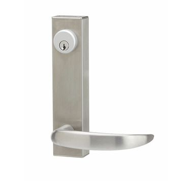 Door Handles Satin Stainless Steel Return To Door Lever Handle Euro Lock 612