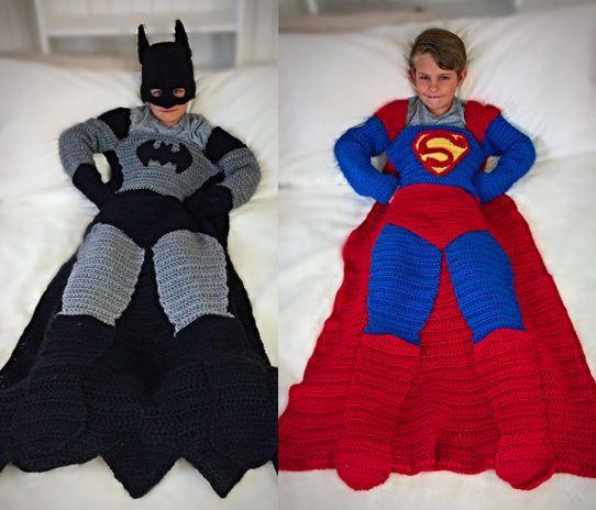 Batman and Superman Crochet Blanket PATTERNS | Manta, Cobija y Tejido