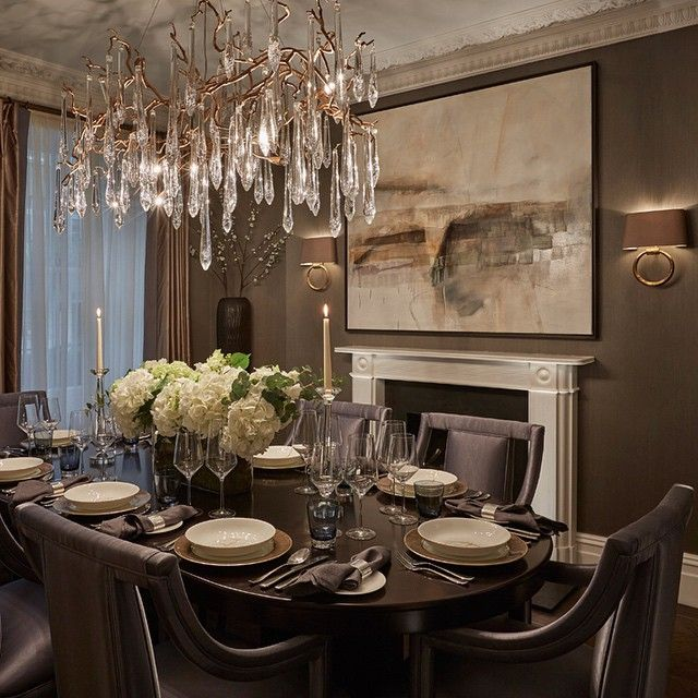 Dinner Table With Serip Chandelier Lighting Pinterest Dinner - Dinner table chandelier