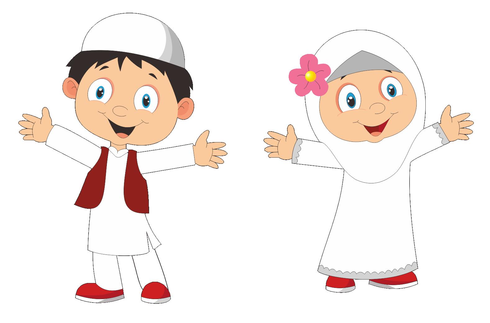 Kumpulan Cartoon Anak Muslim Cdr