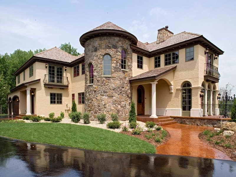 Delightful Tuscan Home Exterior Colors Part - 8: Home Design:Stone Wall For Style Tuscan Home Exteriors Style Tuscan Home  Exteriors Decoration