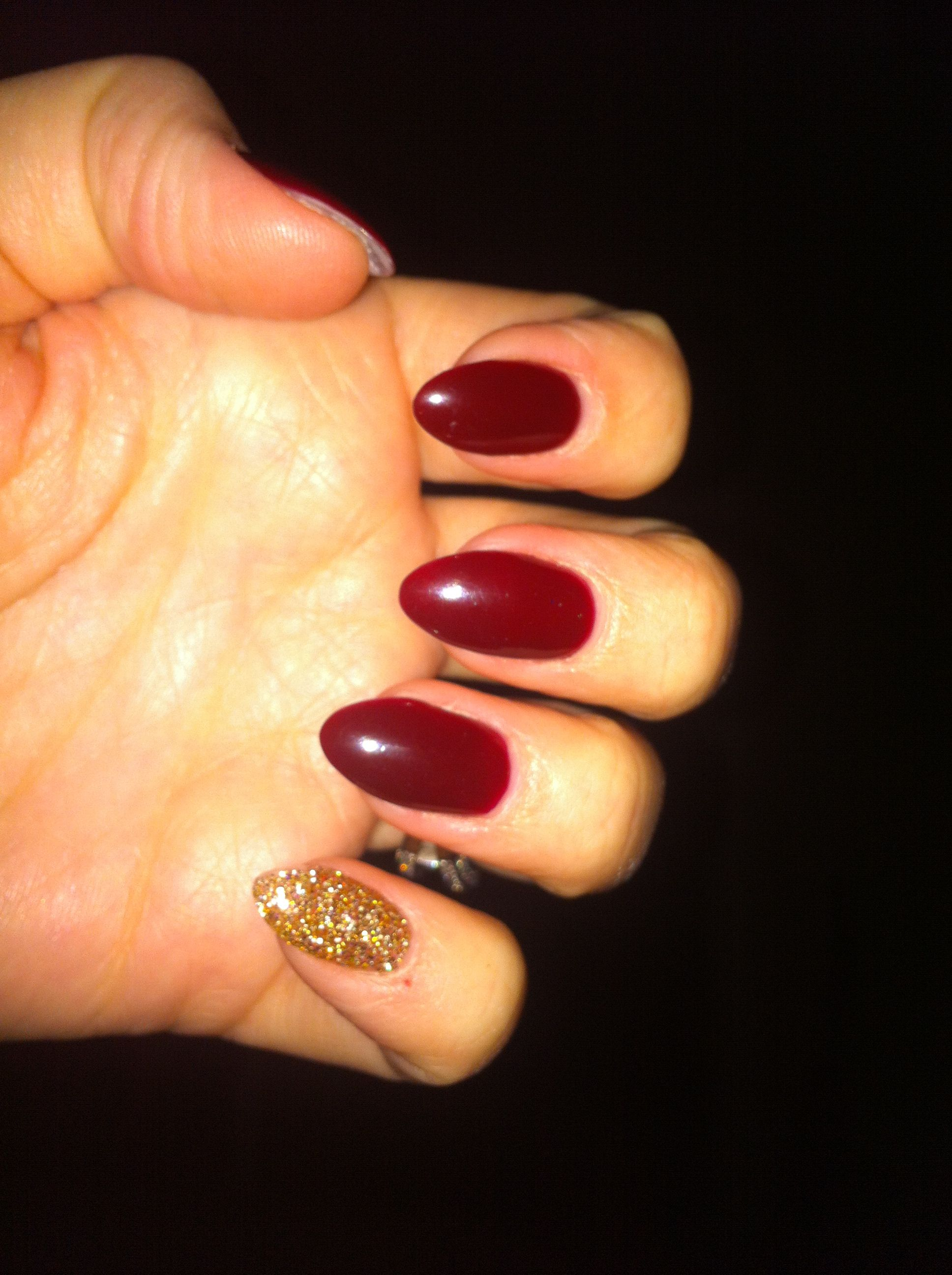 Red round nails almond nails Nails, Nails tumblr, Round
