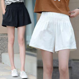Хлопковые шорты летние женские 2016 новые высокая талия широкие брюки нога слово случайные свободные три брюки корейской версии был тонкий шорты