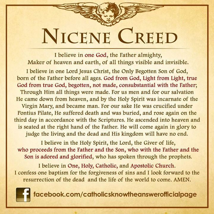 The Nicene Creed homeschool Pinterest The o\u0027jays and Nicene creed - Time Conversion Chart