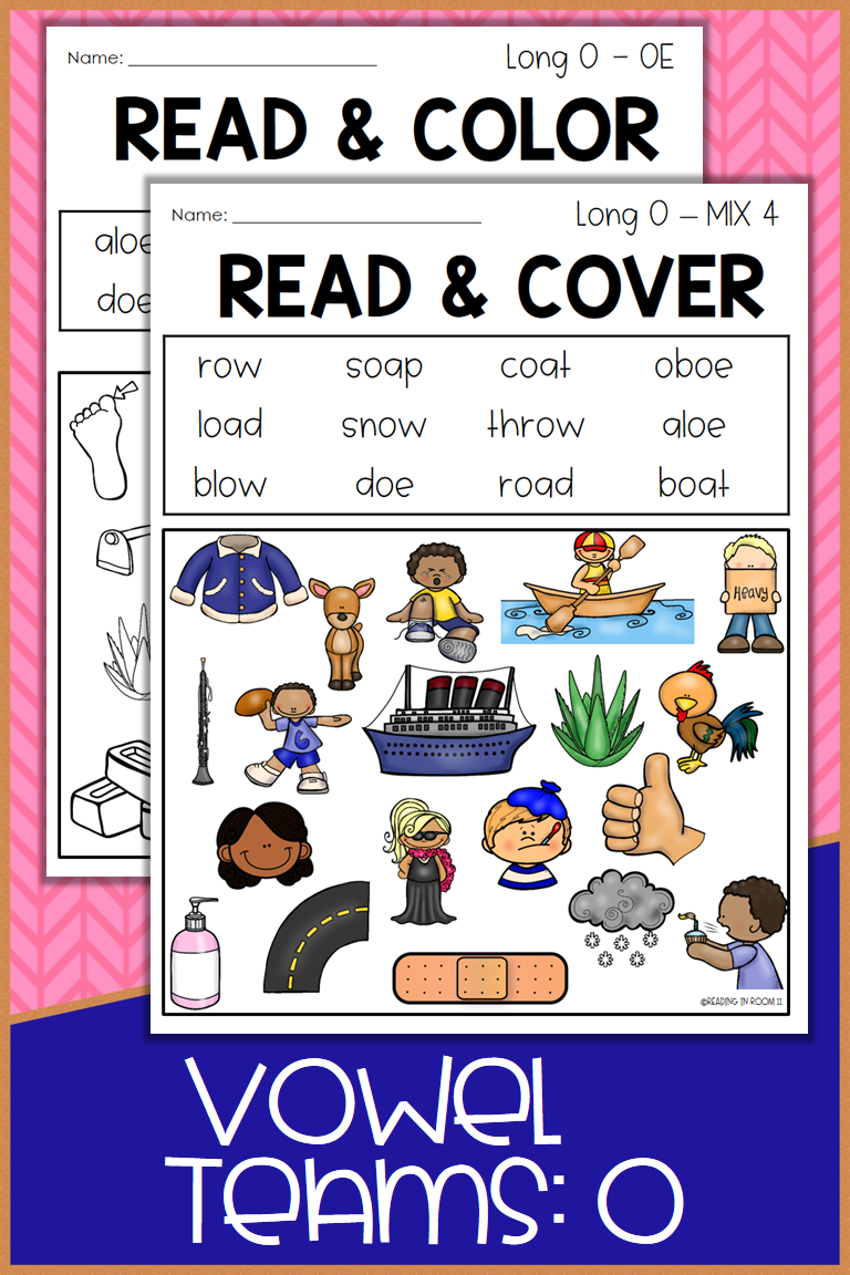 These Vowel Team O Read And Color Cover Worksheets Are The Perfect Print And Go No Prep Act Vowel Team Reading Comprehension Worksheets Word Family Worksheets [ 1152 x 768 Pixel ]