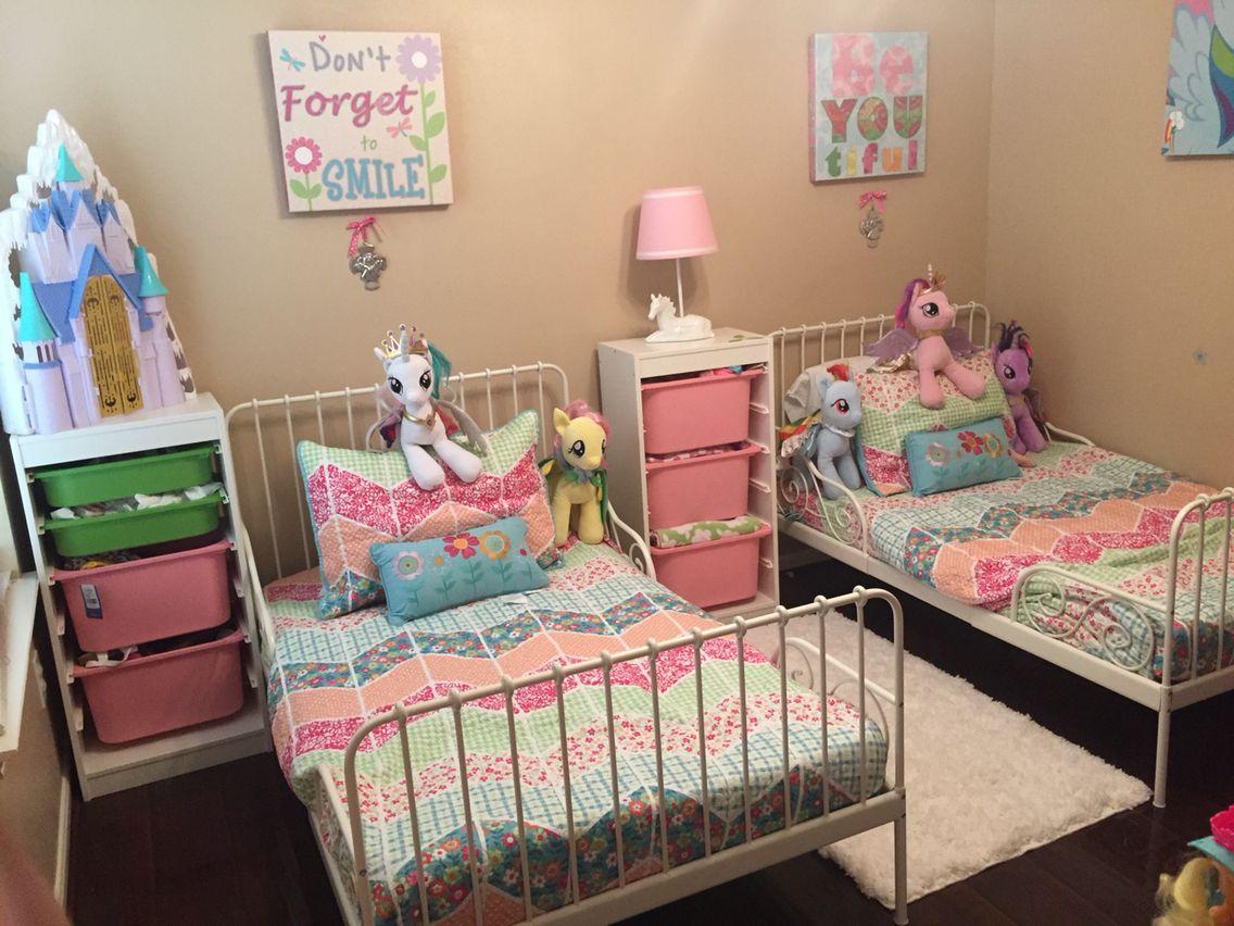 Ikea Minnen Bed Ikea Minnen Bed Shared Girls Bedroom Toddler Bedroom Girl