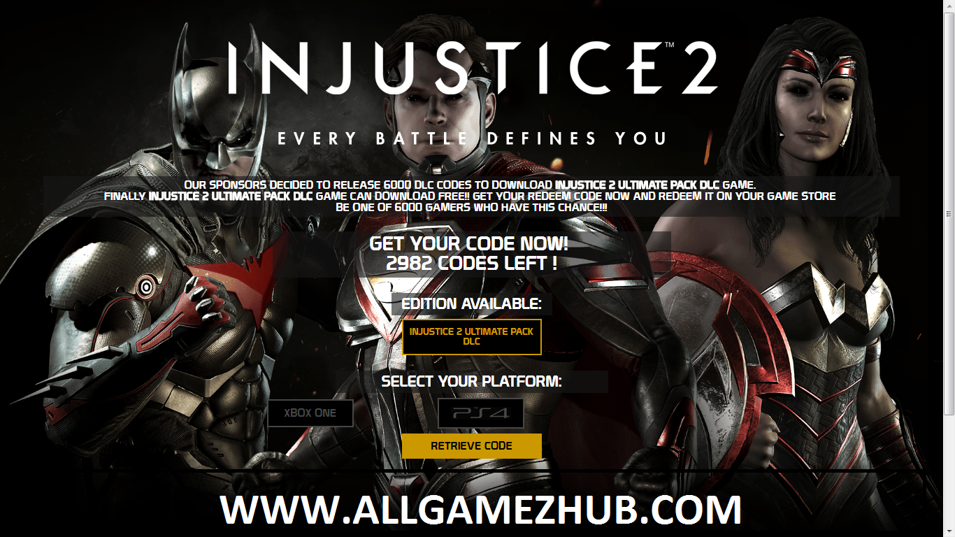 Introducing A Unique Way To Own Injustice 2 Ultimate Pack Dlc Code Generator By Doing An Effortless Task First We Are Presenting Injustice Coding Injustice 2