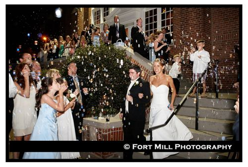 Wishing The Happy Couple Farewell At Winthrop University In Rock Hill SC Wedding