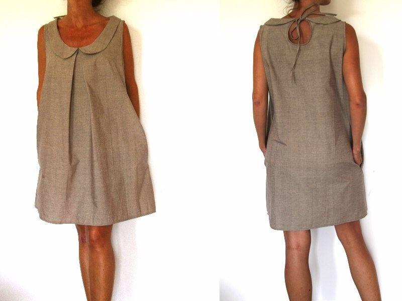 patron de couture robe col claudine et goutte dans le dos couture pinterest couture. Black Bedroom Furniture Sets. Home Design Ideas