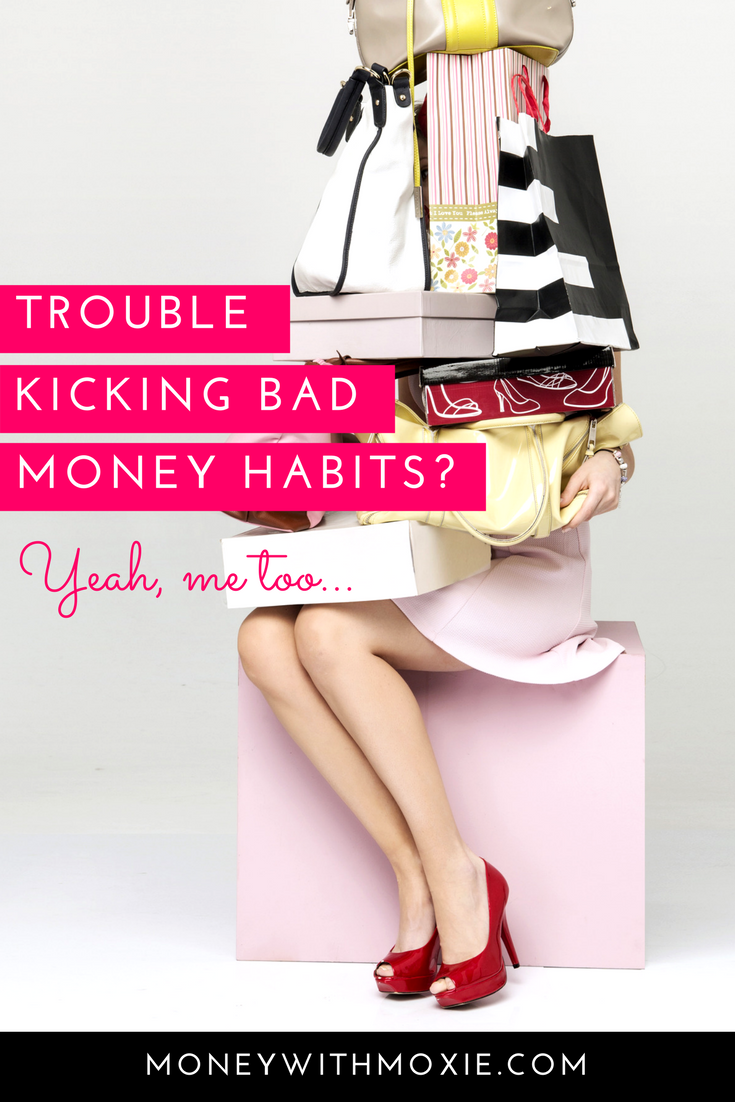 Trouble kicking bad money habits? Yeah, me too. | Bringing intention and awareness to your money has side effects beyond paying off the debt and feeling financially secure, it can change the way you physically feel.  Get my FREE guide and Start Saving Today.