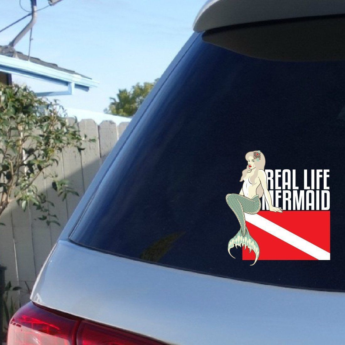 Treat your car to this awesome real life mermaid car sticker our stickers are printed on vinyl media that can get wet and take the abuse paper stickers