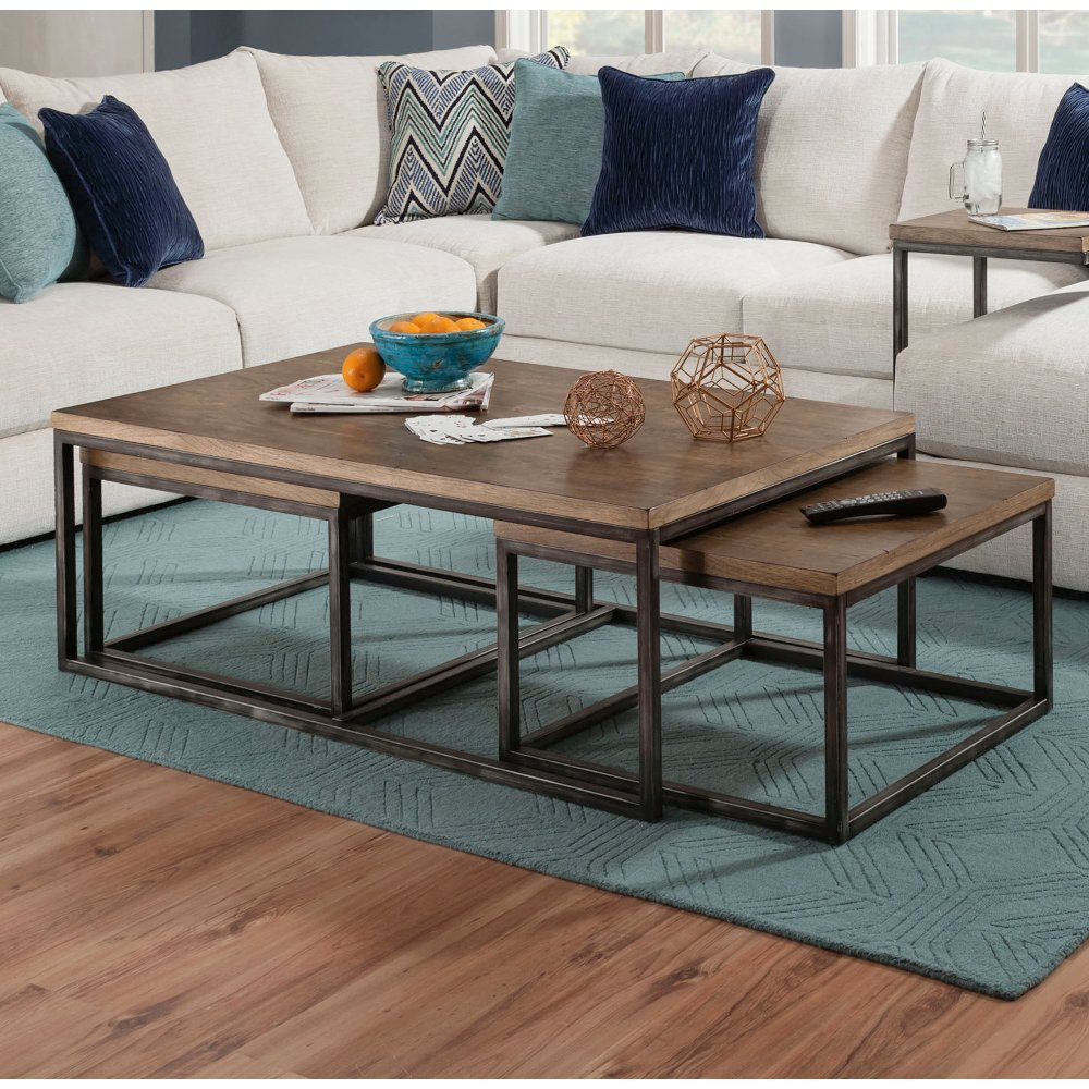 Brown Industrial 3 Piece Nesting Coffee Table Chandler Rc Willey Furniture Store Coffee Table Nesting Coffee Tables Luxury Furniture [ 1000 x 1000 Pixel ]