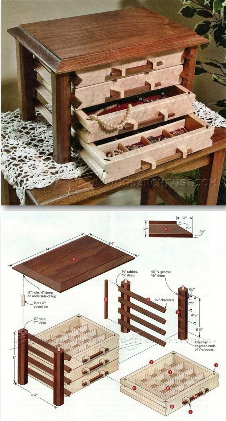 Jewelry Box Plans Woodworking Plans and Projects WoodArchivist
