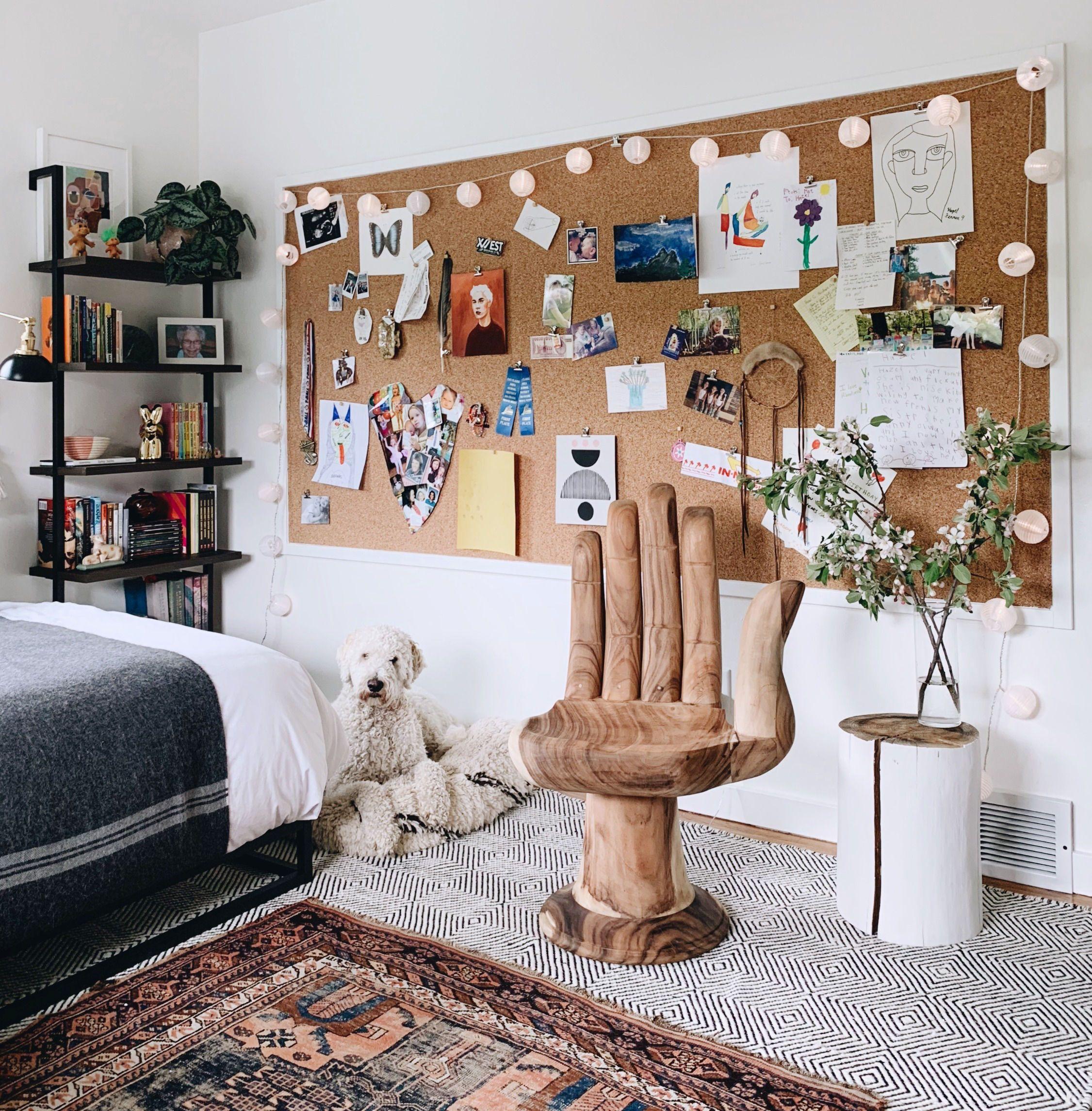 Cork board Wall, Kids Bedroom #kidsbedroomsandthings