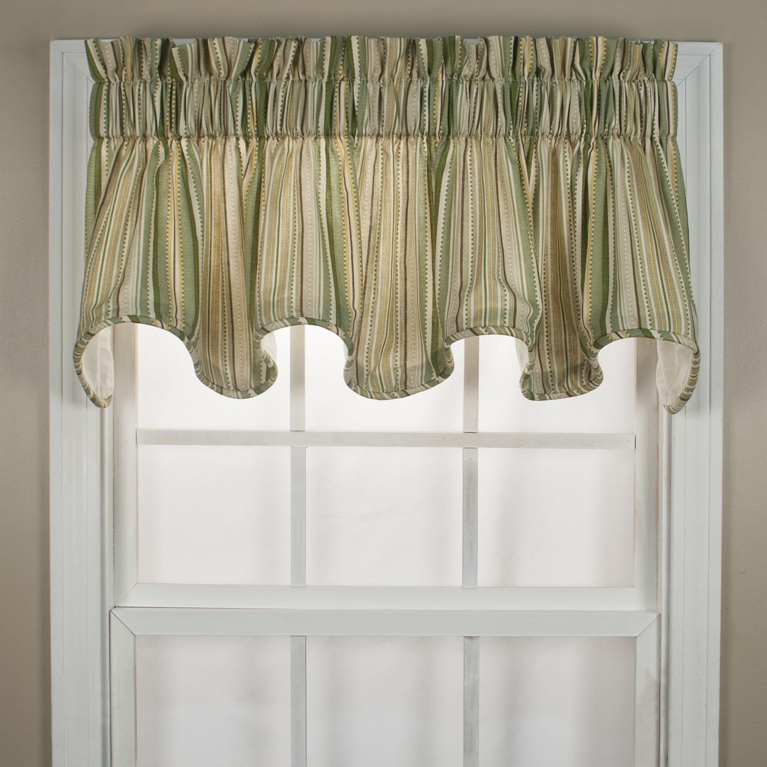 Ellis Curtain Kensington Green Stripe Window Valance