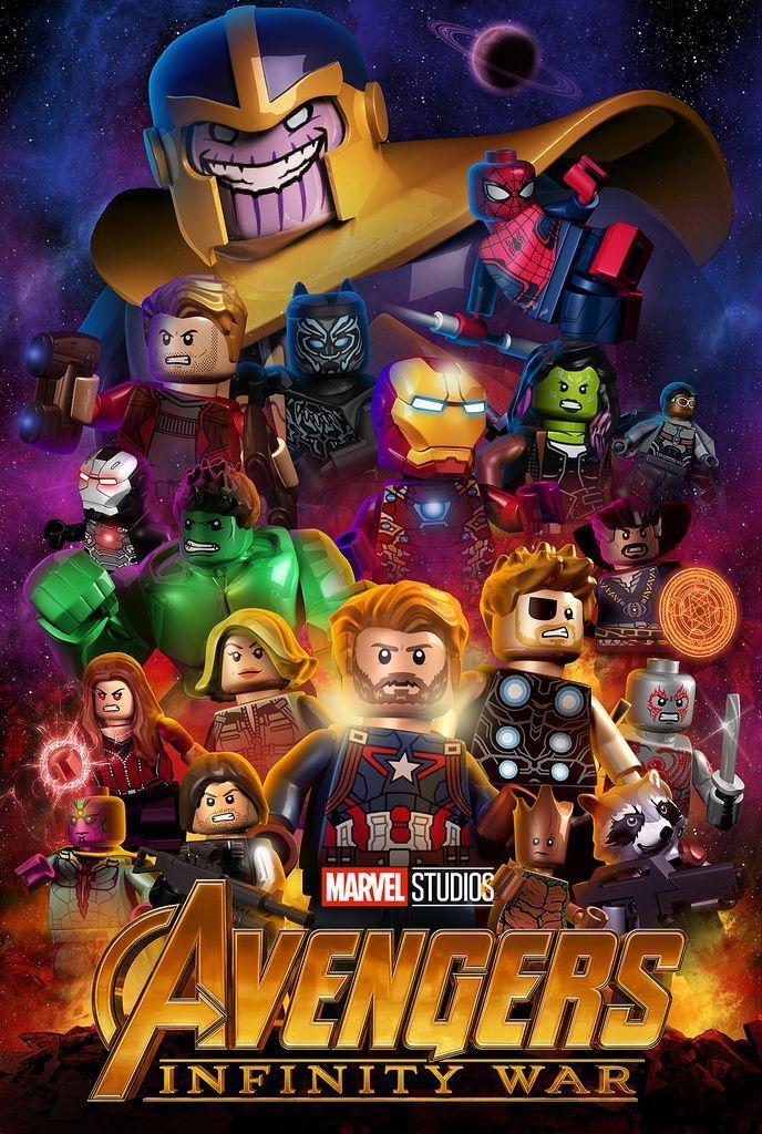Avengers Lego Superhéroes Cumpleaños Con Tema De