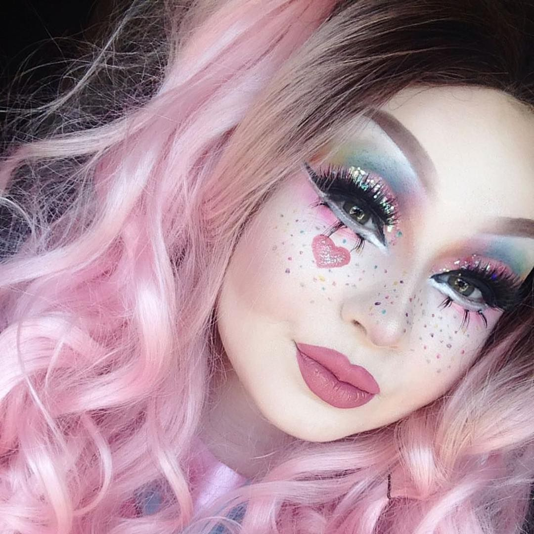 """4,388 Likes, 12 Comments - Sugarpill Cosmetics (@sugarpill) on Instagram: """"Darlingest little babe @_midnightradio rocks a pastel rainbow look for #Pride! She's wearing…"""""""
