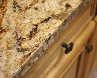 Juperana Cappacino Granite Edges Cream Kitchen Countertops