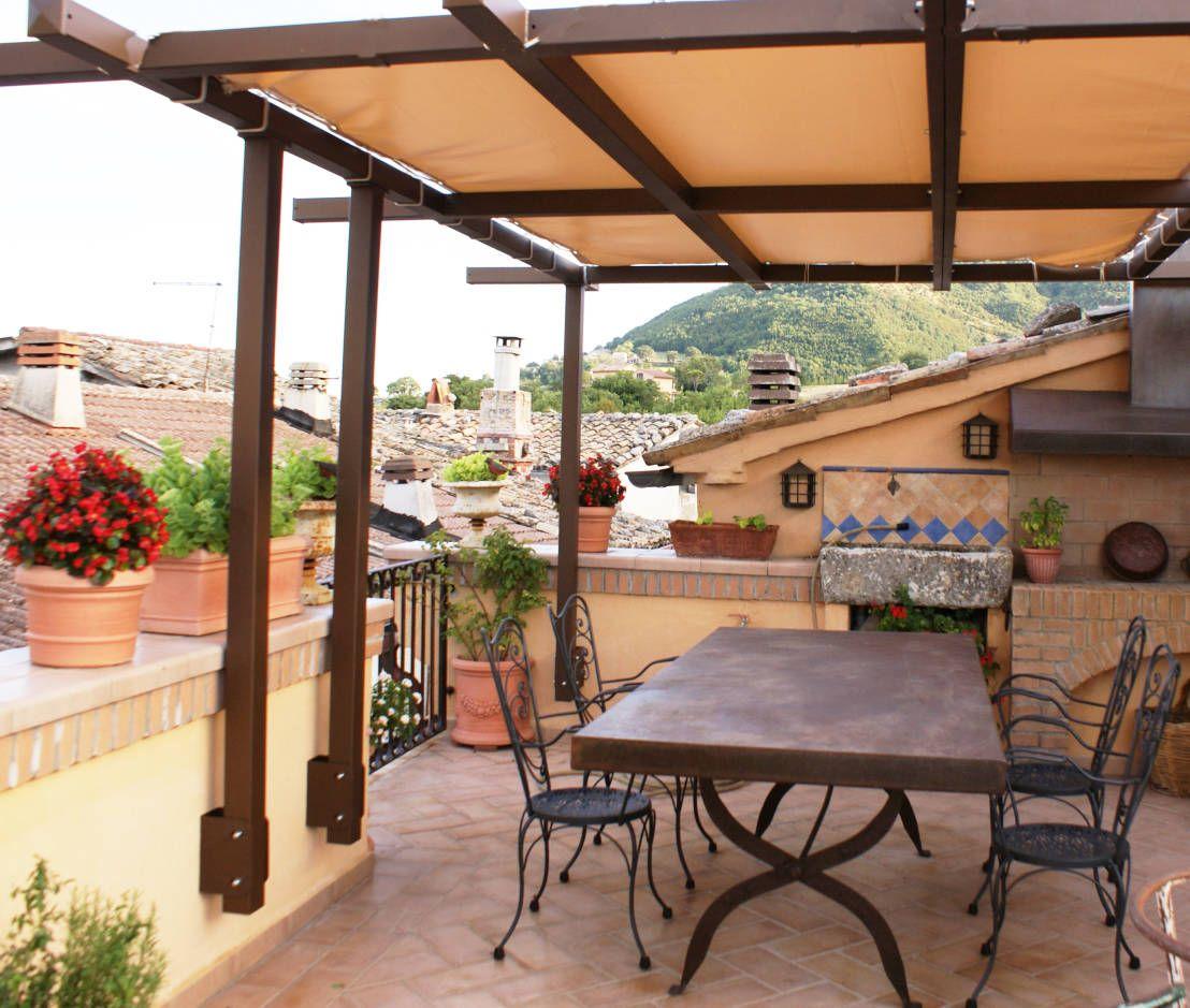 Balcones y terrazas r sticos de au dehors studio - Cubiertas para terrazas ...
