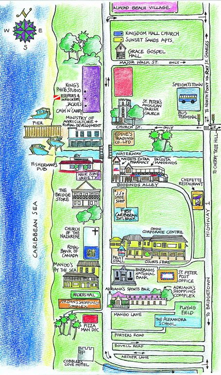 Map Of St Lawrence Gap Barbados Free Interior Design Mir Detok - Tourist map of barbados