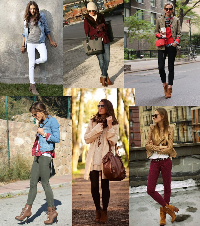 Wear your brown ankle booties this fall Outfit ideas