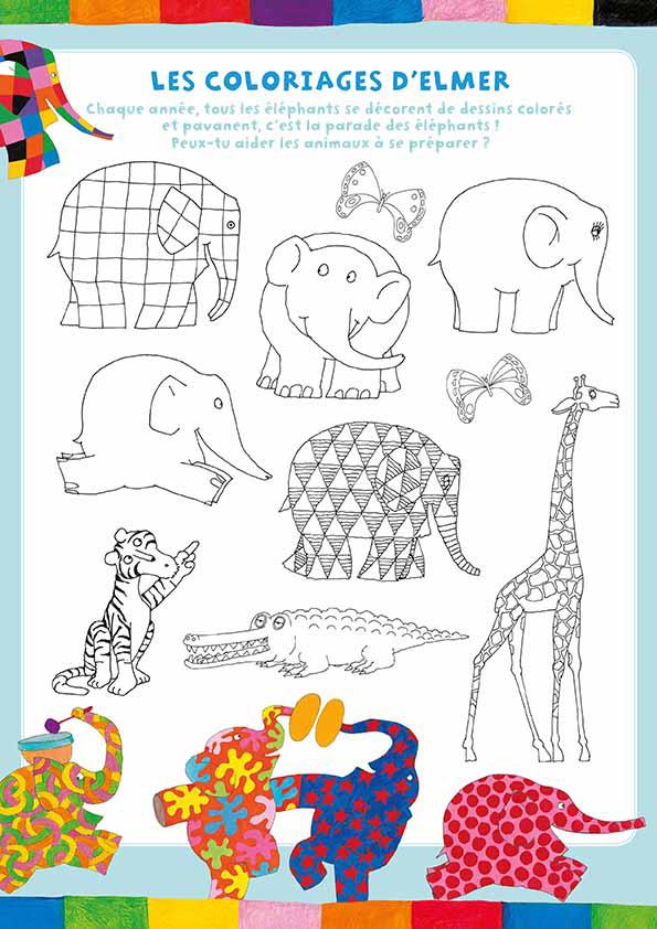 Coloriage Elmer Maternelle.Resultat De Recherche D Images Pour Coloriage Elmer Maternelle Map