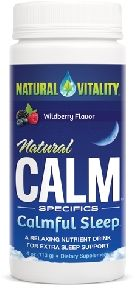Trouble sleeping? Try Natural Vitality Calmful Sleep with magnesium, gaba, l-theanine and melatonin.